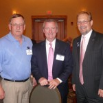 Martin Olsson with Jim Reber and Bill Loving of ICBA